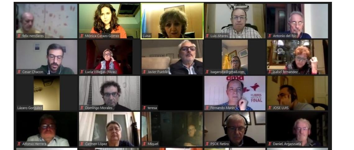 PSOE Rivas celebra un acto sobre la Ley de Regulación de la Eutanasia.
